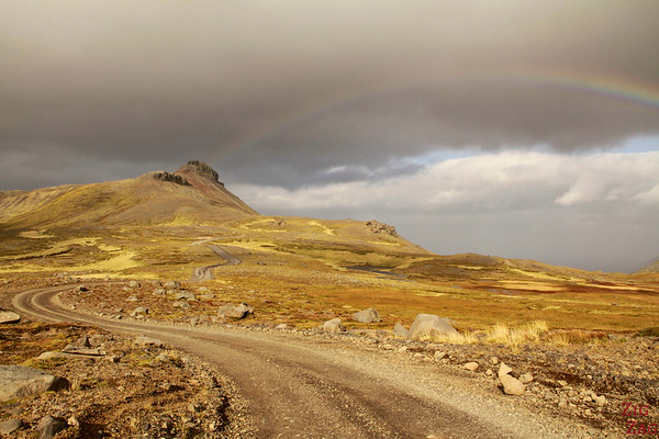 Autumn colors on road F570, Snaefellsjokull