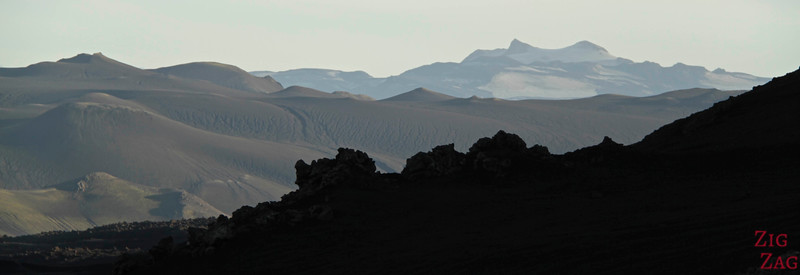 Lava and glacier view from hekla 2