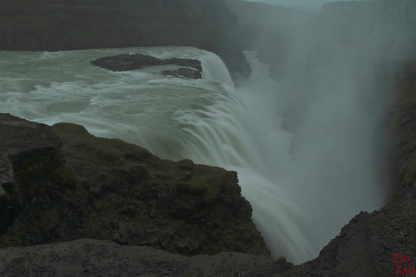 Drop of Gullfoss waterfall, Iceland Photo 2