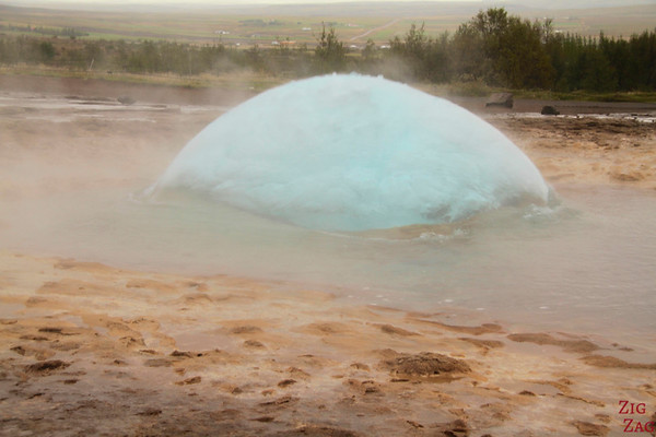 Bubble of Strokkur geyser, Iceland