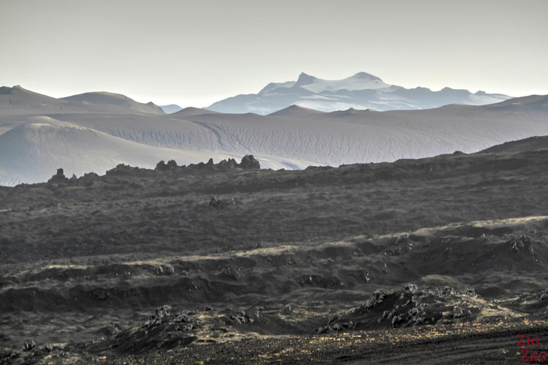Lava and glacier view from Hekla
