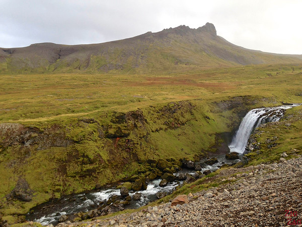 waterfall on road F570, Snaefellsjokull