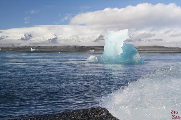 Iceberg sur la plage de Jökulsárlón Islande 10