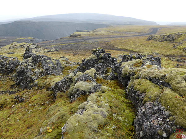 Lava field before discovering the canyon