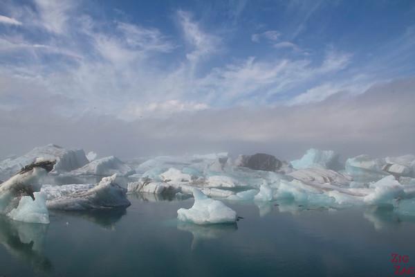 Lagon Jokulsarlon Islande météo brume 2