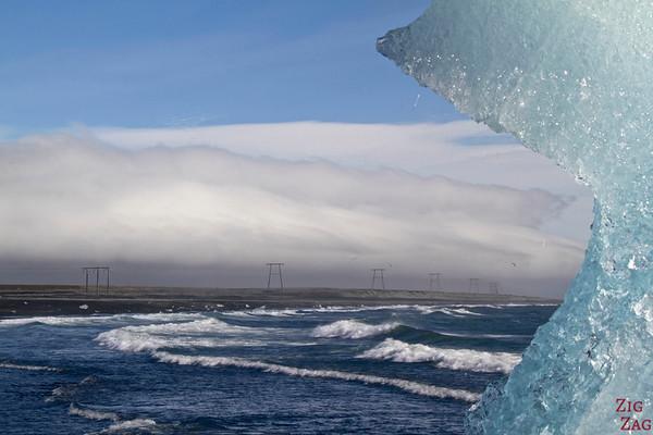 Iceberg sur la plage de Jökulsárlón Islande 9