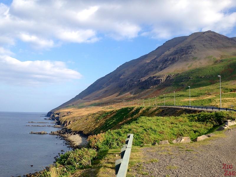 Vue vers l'entrée du fjord :