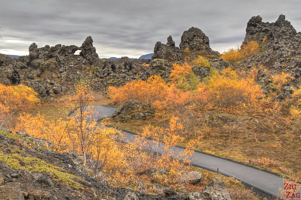 places to see at Lake Myvatn Iceland - Dimmuborgir
