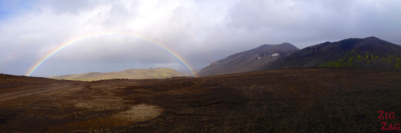 Full rainbow on road F570, Snaefellsjokull