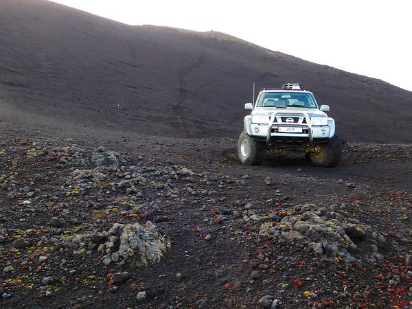 Climbing Hekla volcano