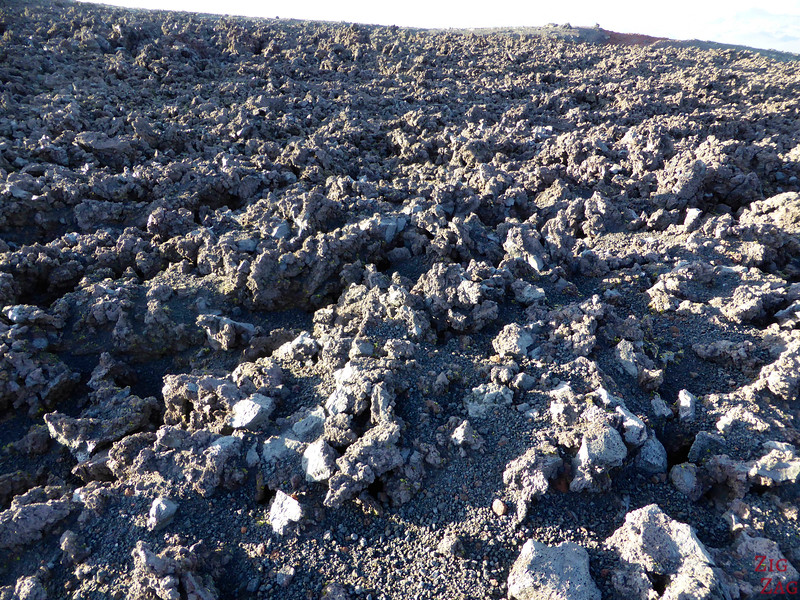 Lava field on top of Hekla