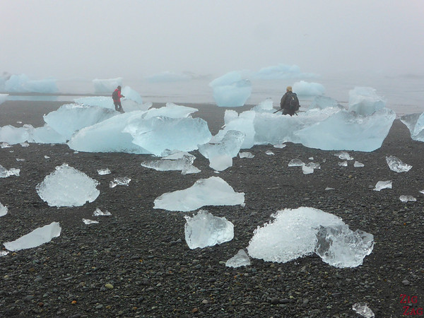 Iceberg sur la plage de Jökulsárlón Islande 2