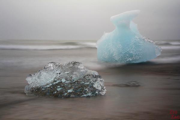 Iceberg sur la plage de Jökulsárlón Islande 5