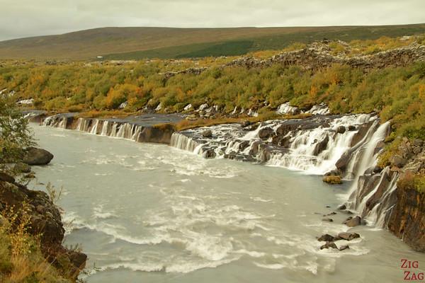 Cascade Hraunfossar Islande 2