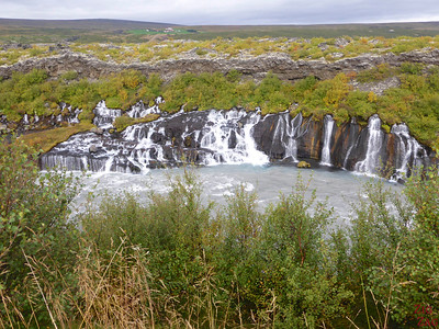 Hraunfoss waterfall - detour from Golden Circle Iceland