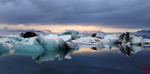 Icebergs reflections