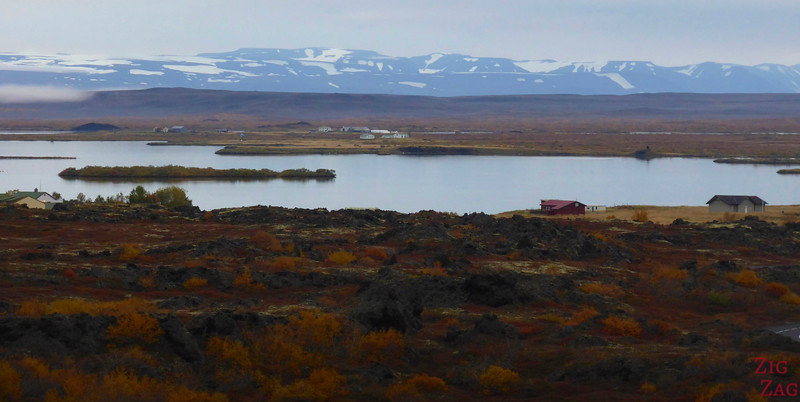 View of Lake Myvatn