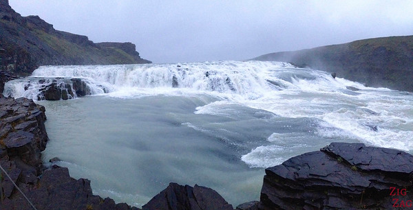 Top section of Gullfoss waterfall, Iceland