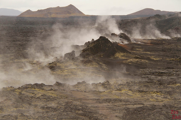 Steaming lava at Leirhnjukur geothermal area, North Iceland, photo 1