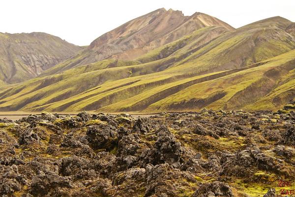 Laugarhaun Approaching Landmannalaugar Iceland