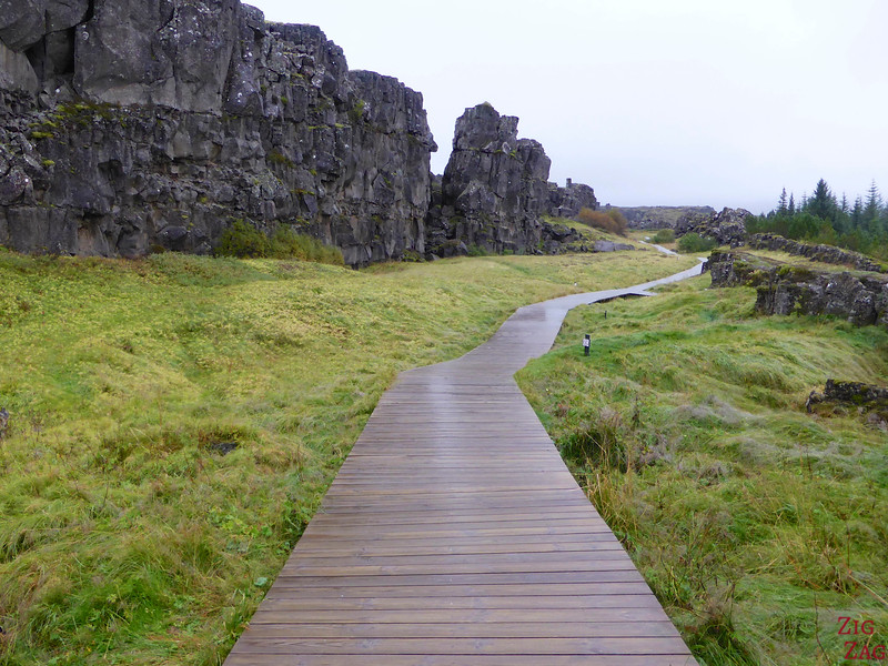 Fissure Thingvellir National park Iceland