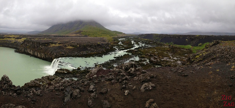 Thjofafoss waterfall Iceland and its surrounding