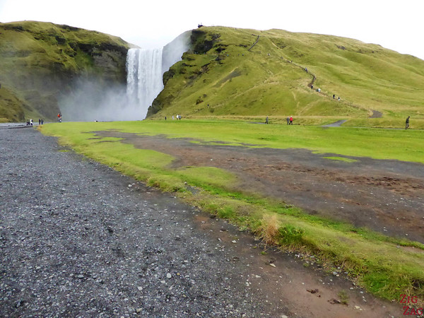 Path to Skógafoss waterfall Iceland