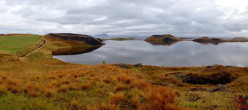 Panorama pseudo craters Myvatn, Iceland