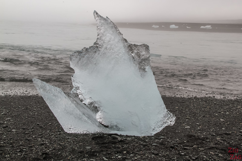 Iceberg on Jokulsarlon Beach Photo 4