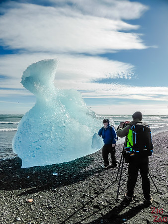 Touching Icebergs at Iceland Diamond beach 1