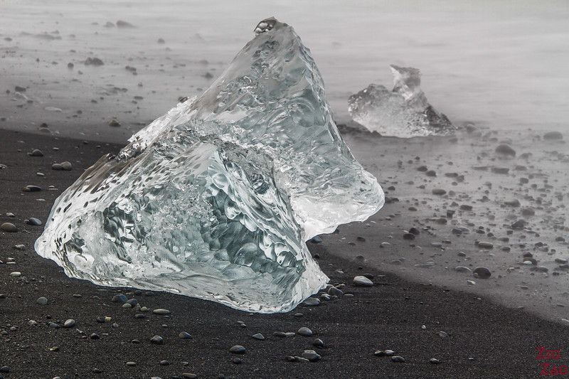 Diamond iceberg at Diamond Beach Iceland