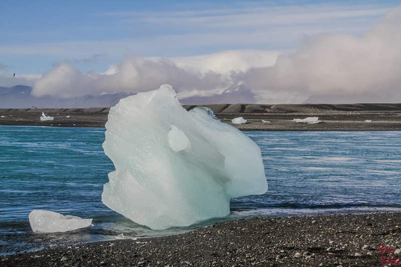 Iceberg on Jokulsarlon Beach Photo 12
