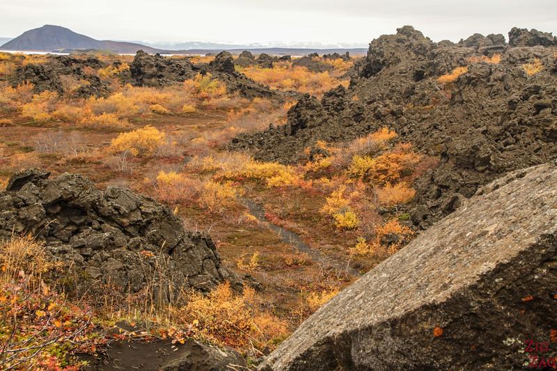 Champs de lave de Dimmuborgir Islande - Lac Myvatn 3
