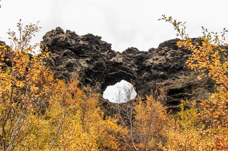 Champs de lave de Dimmuborgir Islande - Lac Myvatn 1