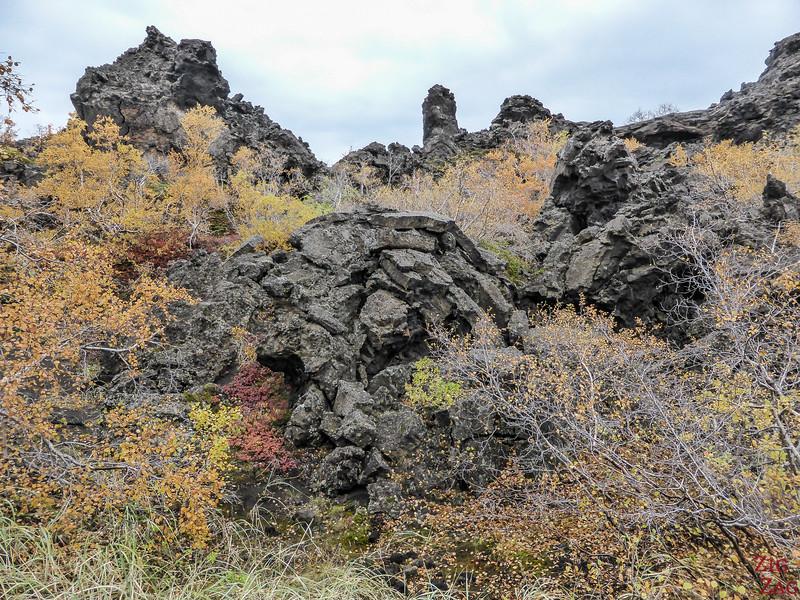 Geology of Dimmuborgir Iceland