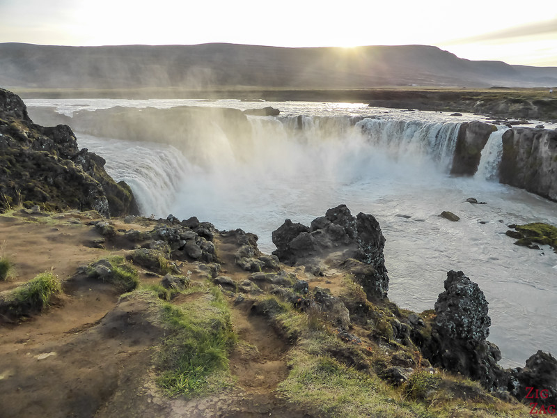 Godafoss waterfall from top of East Bank