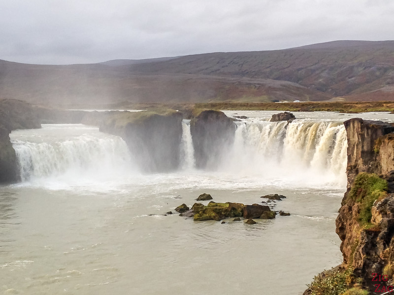 Godafoss waterfall from West Bank