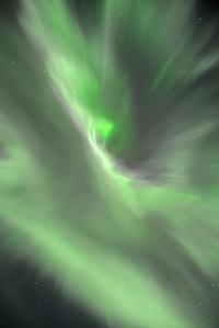 Corona aurora, near Höfn, Iceland.