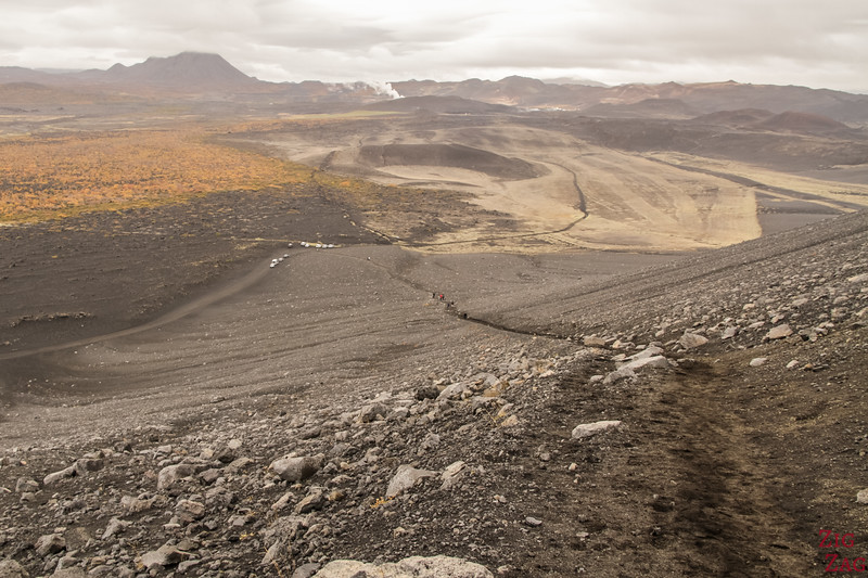 Road to Hverfjall crater