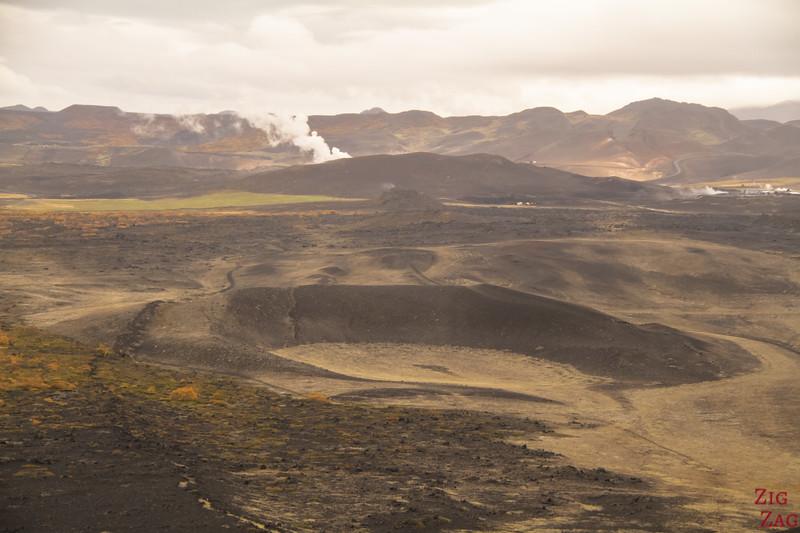 Marcher sur Hverfjall Islande cratère Lac Myvatn 5