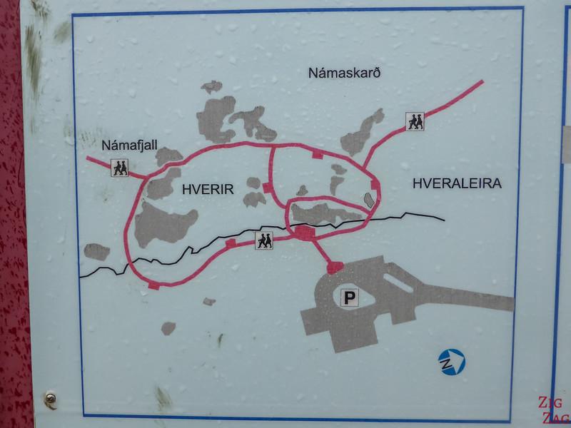 Plan du site d'Hverir