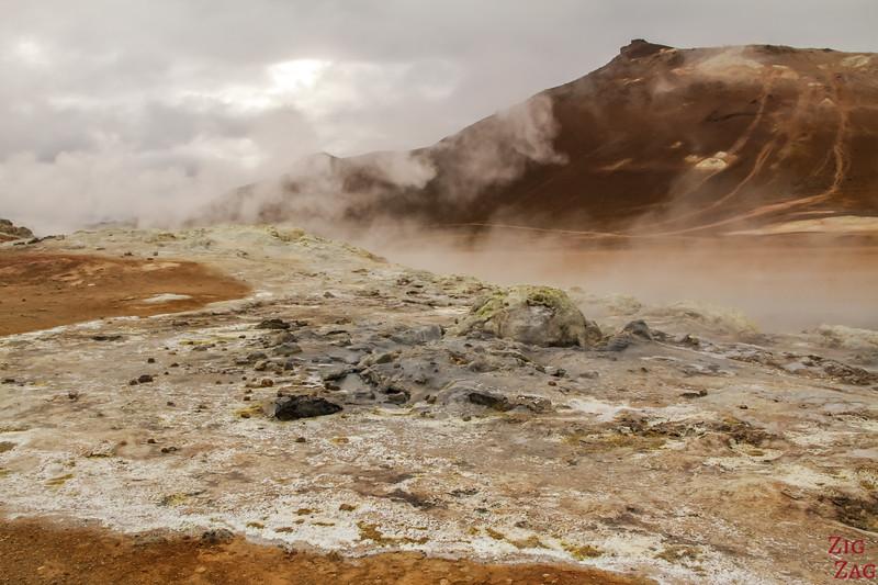 Namafjall Hverir Islande zone geothermique lac Myvatn 1