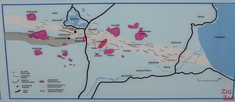 Carte géothermique de la région de Namaskard