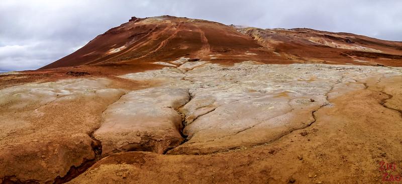 Namafjall Hverir Islande zone geothermique lac Myvatn 2