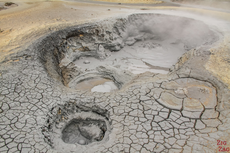 Mud pools at Hverir Iceland