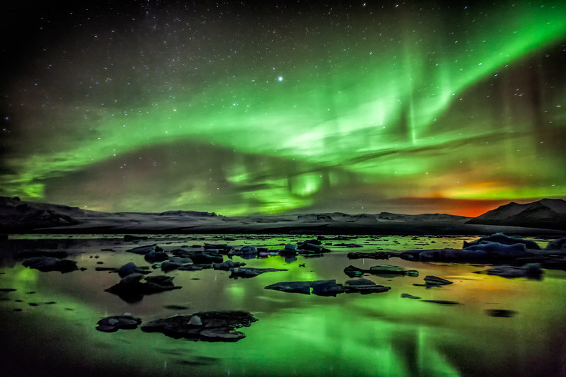 Jökulsárlón Lights