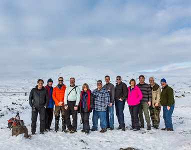 Group shot at Öxarárfoss