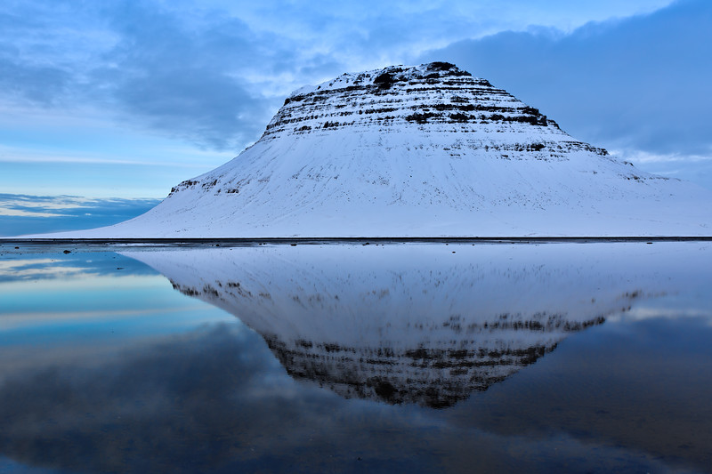 Kirkjufell in Reflection