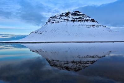 Kirkjufell in Reflection