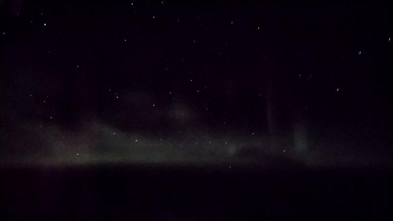 Northern Lights airplane view